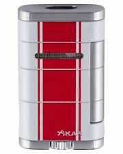 XiKAR 533HPWR Allume Double Flame Cigar Lighter White Red Lifetime Warranty