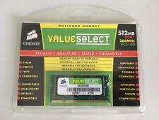 Corsair Memory VS512SD266 512MB PC2100 266MHz 200-pin SODIMM Laptop Memory