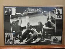 vintage 1991 Metallica poster black & white heavy metal band  4431