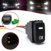 Factory Style 4-Pole 12V Push Button Switch w/LED Indicator Light For Mitsubishi