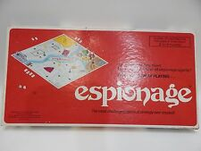 Espionage 1973 Board Game Stratagame Warner 100% Complete Box is Worn