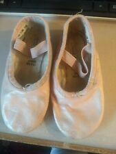 Revolution Girl's Ballet Pink Leather Dance Shoes Slippers Used Will fit Sz 10