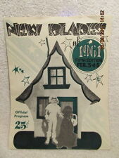 1961 Program New Blades Ice Skaters Youth Skating Evansville IN Many Names & Ads