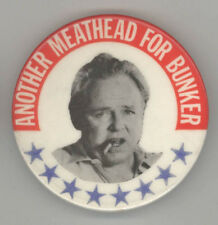 ARCHIE BUNKER President POLITICAL Pin BUTTON Pinback BADGE TV Comedy CAMPAIGN