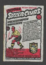 Anglo-American Gum Bell Boy wax wrapper Famous Soccer Clubs #75 Wolverhampton W