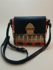 Spartina 449 Daufuskie Island Leather and linen Tulip Crossbody Purse Red, Blue