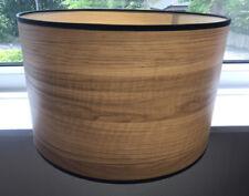 Designer Wood Effect Hand Made Large Drum Shape Lampshade