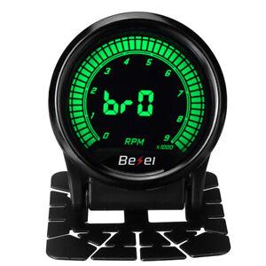 "2"" 52mm 10 Color LED Display 0 - 9000 RPM Tachometer Tacho Gauge Car Meter"