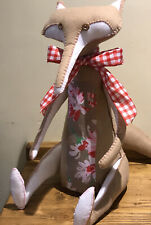 """Luxury """"Cath Kidston"""" front Hand Stitched large Felt Country Fox,  super Gift!"""