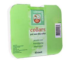 Clean + Easy Deluxe Pot Wax Collars - 50pk (41106)