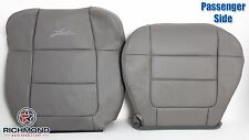 2001 Ford F150 Lariat SuperCrew-Passenger Side Complete Leather Seat Covers Gray