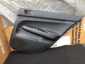 07-08 INFINITI G35 SEDAN REAR RIGHT PASSENGER BLACK DOOR PANEL 80923-JK000 OEM