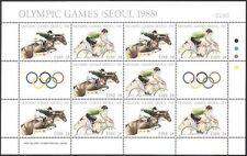 Ireland 1988 Olympic Games/Olympics/Sports/Cycling/Horses/Bikes 10v sht (n41284)