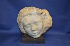 Vintage Milton Hebald Marble Head Sculpture - Signed