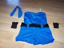 Child Size IMC 11-12 A Wish Come True Blue Sequined Dance Unitard Costume Outfit