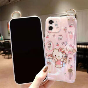 For i Phone 7 8 Plus X MAX 11 12 Pro Cute Cat Colorful ArmBand Stand Cover Case