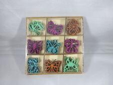 36 Schmetterlinge Holz Glitzer  Streudeko  Tischdeko  Streuelemente Basteln