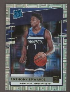 2020-21 Anthony Edwards Donruss Choice Rated Rookie MOJO Silver Timberwolves