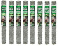 """8 rolls Midwest 308464B 24"""" x 25' 2"""" Poultry Netting Chicken Wire Fence Fencing"""