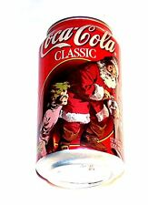 1997 Coca Cola Coke Christmas Pull Tab Top Soda Pop Can A1+ Flat Sign Beer Offr
