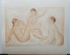 "Renoir Vintage Lithograph ""Three Bathers"" 1960's 23""×28"""