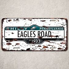 LP0086 Philly Pennsylvania Eagles Auto Car License Plate Sign Rust Vintage Decor