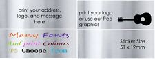 SILVER RECTANGLES Personalised Labels NAME Seals Envelope Stickers COLOUR x50