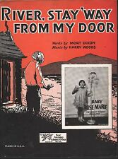River Stay Way From My Door 1931 Baby Rose Rose Marie-Van Dyke TV Sheet Music