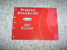 2007 Ford Ranger Electrical Wiring Diagram Manual XL STX XLT Sport FX4 V6 4Cyl