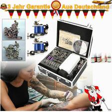 Complet Tattoo Kit de Tatouage 4 Machine à Tatouer Power Supply Set 7 Ink DE DHL
