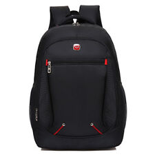Nylon Black Backpack Waterproof Men's Back Pack 15.6 Inch Laptop Mochila Bookbag