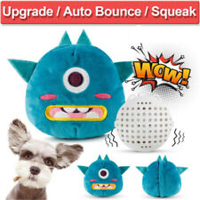 Jumping Puppy Dog Toys Interactive Plush Chaser Automatic Shake Squeak Ball Toy