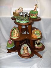 Safari Surprises Franklin Porcelain Figurines 1988 Collection Display Tower