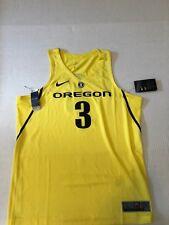 Nike Oregon Ducks Basketball Jersey Stitched #3 Authentic Yellow Sz L