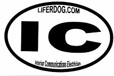 4x6 USN IC INTERIOR COMMUNICATIONS ELECTRICIAN  STICKER
