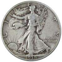 1938 50c Liberty Walking Silver Half Dollar F Fine