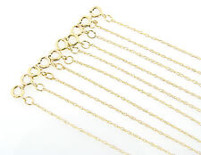 10K Gold 18-inch Long Display Chains 10Pc Wholesale Lot
