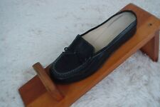Cole Haan Womens Size 7 Black / Tan Leather Mules bow Slides Slip On Loafer