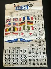 ORIGINAL SCALEXTRIC 1960's A236 DECORATIVE FLAGS, PIT NUMBERS & CAR NUMBERS NOS
