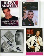 Lot de 4 PASS V.I.P de Ricky MARTIN pour la promo à PARIS.
