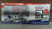 Collectable Anzac Biscuit Tin Mug & Commemorative Postcards Set NEW