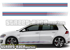 VW Volkswagen MARTINI side racing stripes 002 vinyl graphics stickers Golf Polo
