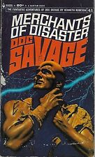 DOC SAVAGE #41: MERCHANTS OF DISASTER  by Kenneth Robeson - 1st PB Printing