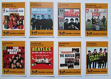 Set of 8 BEATLES RARITIES trade cards -ORANGE 'Unreleased in the UK' series gift