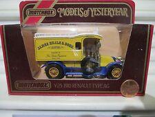 Matchbox Yesteryear Y25A 1910 Renault Van James Neale Lt Blue Open Grab Handles