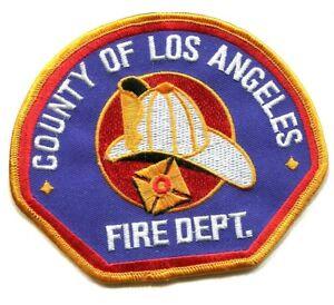 Comté Los Angeles Pompier Pd Fire Department Pompier Bardane Patch