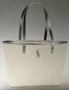 Ralph Lauren Romance Women's White Tote Bag With Logo Read Listing Brand New