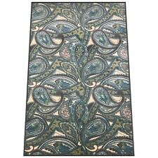Silk & Sultans Agathe Collection Contemporary Blue Paisley 5x7 Area Rug
