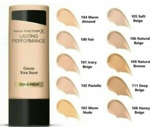 Max Factor Lasting Performance Foundation 35ml **CHOOSE YOUR SHADE**