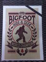 NEW Bigfoot Print - Hide & Seek World Champ- Printed in USA 9x12 - Lantern Press